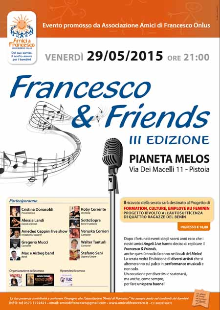 """FRANCESCO & FRIENDS"" AL PIANETA MÈLOS"