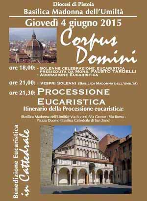 GIOVEDÌ 4 GIUGNO FESTA DEL 'CORPUS DOMINI'