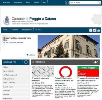 NUOVO SITO WEB PER IL COMUNE DI POGGIO A CAIANO
