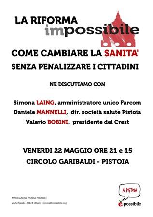 """""""LA RIFORMA IMPOSSIBILE"""": SI PARLA DI SANITÀ"""