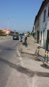 Segni dell'ultomo incidente in Via Sestini-San Rocco