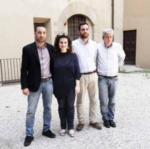 """Il gruppo """"Pistoia Domani"""": Capecchi, Semplici, Tomasi, Gallacci"""
