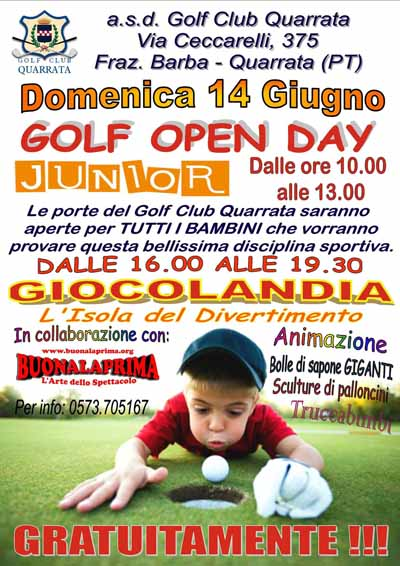 LE INIZIATIVE DEL GOLF CLUB DI QUARRATA