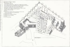 Ricostruzione bastione Thyrion (da: La Fortezza di San Barnaba, G.Iori)