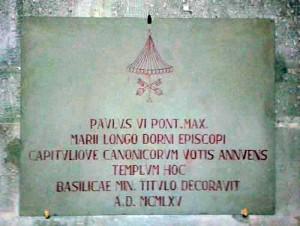La lapide di Paolo VI