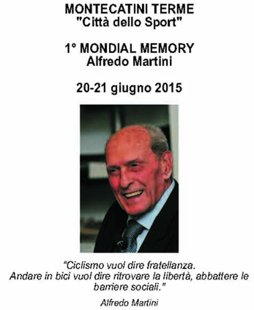 PRIMO MONDIAL MEMORY DEDICATO A ALFREDO MARTINI