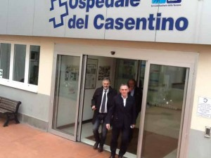 Rossi e Ceccarelli all'ospedale di Bibbiena