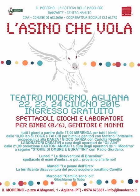 """""""L'ASINO CHE VOLA"""": UNA FESTA E UN GIARDINO PER I PIÙ PICCOLI"""