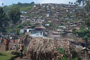 Un campo di sfollati congolesi