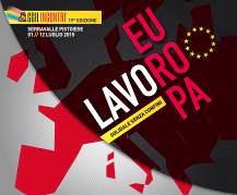 """""""EUROPA LAVORO. SOLIDALE SENZA CONFINI"""""""