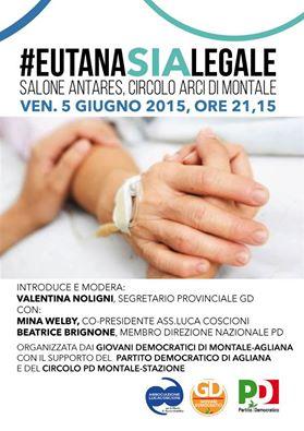 EUTANASIA LEGALE, INCONTRO A MONTALE