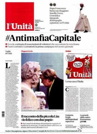 """""""L'UNITÀ"""" DI NUOVO IN EDICOLA"""