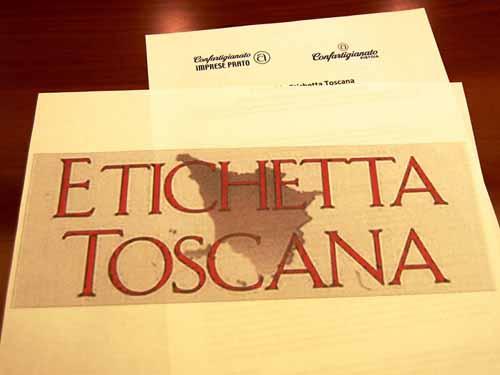 """""""ETICHETTA TOSCANA"""" PER I PRODOTTI ARTIGIANI CERTIFICATI"""