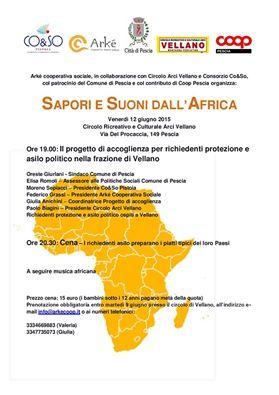 """A VELLANO """"SAPORI E SUONI DALL'AFRICA"""""""