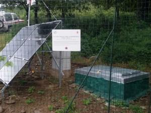 La stazione di rilevamento sismico a Poggio Prato Tondo