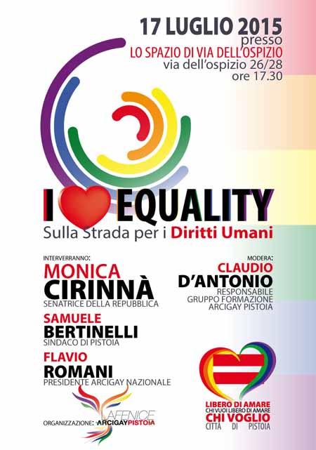 """""""I LOVE EQUALITY"""""""