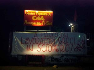 La manifestazione in favore dei greci