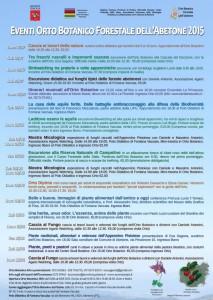 Calendario Eventi Orto Botanico