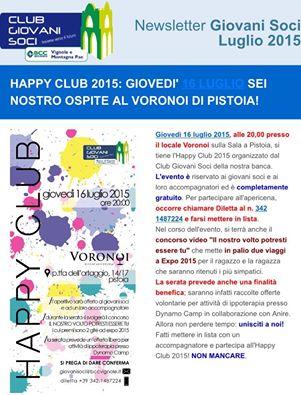 """GIOVANI SOCI BCC VIGNOLE-MONTAGNA, """"HAPPY CLUB 2015"""" A PISTOIA"""