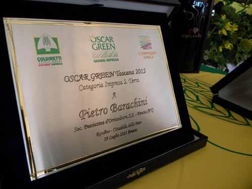 """IMPRESA 2.TERRA"", OSCAR GREEN ALLA 'SPO' DI PESCIA"