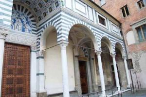 L'ingresso di San Zeno a Pistoia
