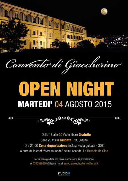 OPEN NIGHT AL CONVENTO DI GIACCHERINO