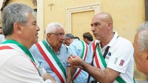 Sergio Pirozzi e Giuseppe Morini alla manifestazione di Roma