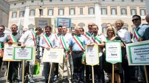 I Sindaci alla manifestazione di Roma