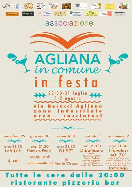 """""""AGLIANA IN COMUNE IN FESTA"""", SECONDA EDIZIONE"""