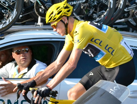 TOUR DE FRANCE: CHRIS FROOME HA VISSUTO A QUARRATA