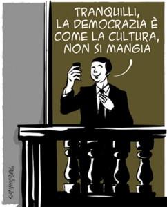La finta democrazia del Pd [vignetta Mauro Biani]