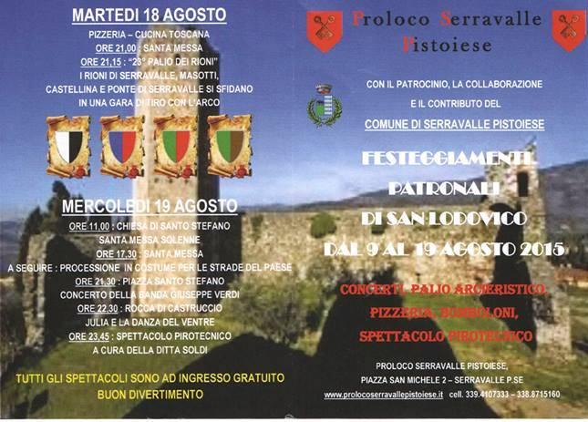 A SERRAVALLE FESTA PATRONALE DI SAN LUDOVICO