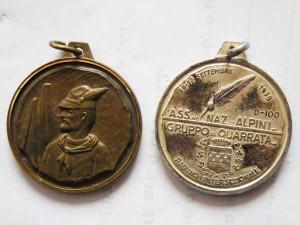 La medaglia degli Alpini