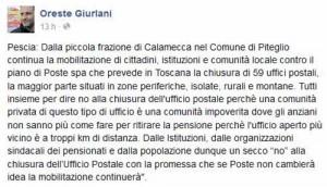 Ma poi, su Calamecca, Giurlani l'assente ha scritto...