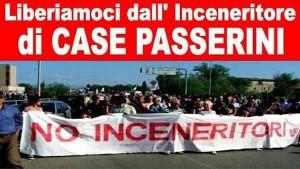 La protesta contro contro l'inceneritore di Case Passerini