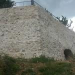 La parte delle mura ripristinate