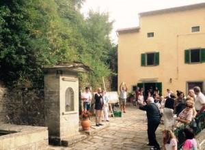 La cerimonia di inaugurazione della Fonte delle Fate