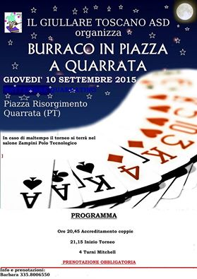 BURRACO IN PIAZZA A QUARRATA
