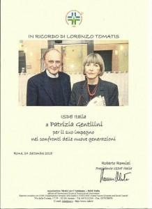 Il riconoscimento in memoria di Lorenzo Tomatis