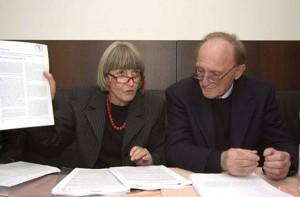 Gentilini con Lorenzo Tomatis nel 2005 a Forlì
