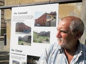 Antonio Ginetti e il materiale della sua protesta