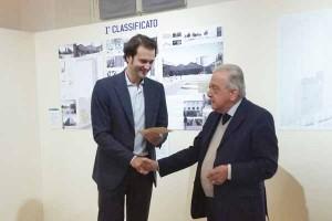 L'architetto Nicholas Diddi con Ivano Paci
