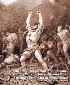 Dante, Vanni Fucci nell'illustrazione diGustave Doré