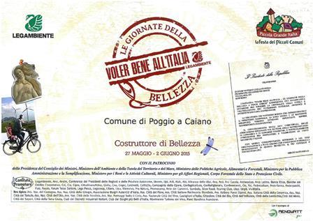 """LEGAMBIENTE: POGGIO A CAIANO """"COSTRUTTORE DI BELLEZZA"""""""