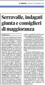 Il Tirreno, 5 settembre 2015 - Giunta Serravalle