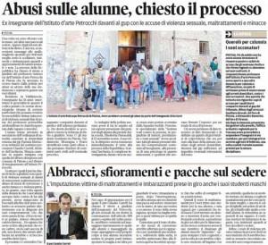 Il Tirreno, 6 settembre 2015-Professore abusi