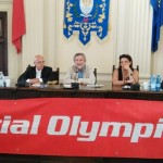 Il sindaco Bellandi durante l'incontro