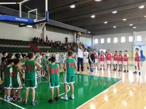Un momento della cerimonia alla presenza di tanti atleti