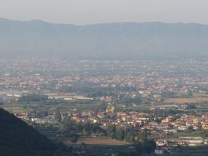La piana vista da Tobbiana