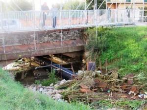 Il fosso Quadrelli ieri mattina